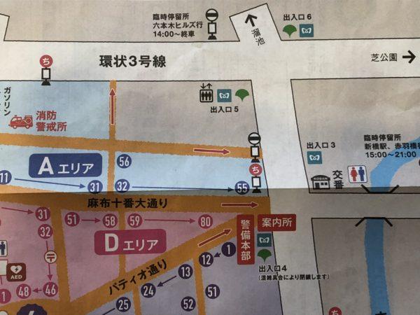 麻布十番納涼祭り地図